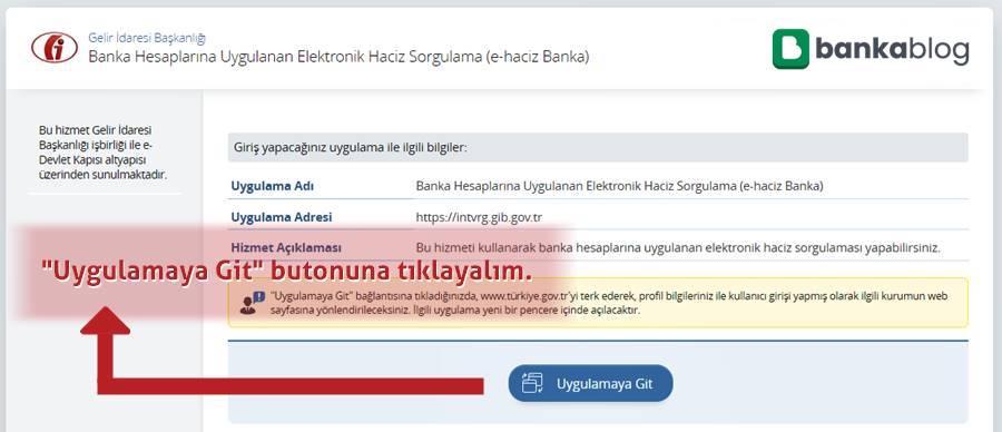 e-haciz sorgulama ekranı