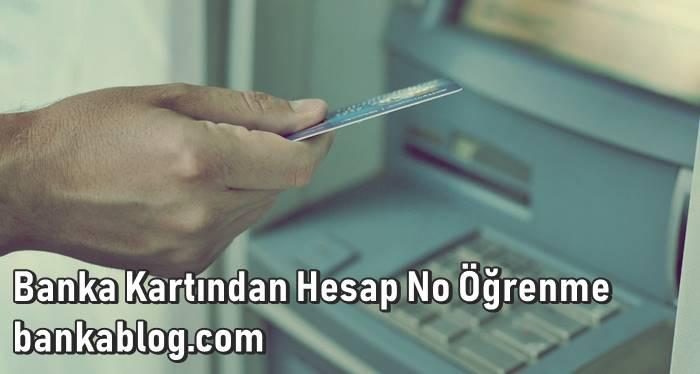 banka kartında hesap no yazar mı?
