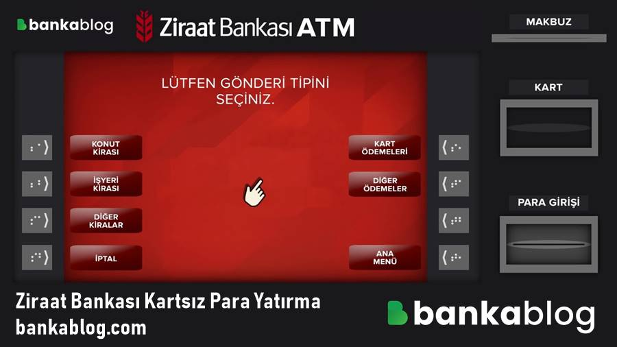 Ziraat Bankası ATM Kartsız Para Transferi