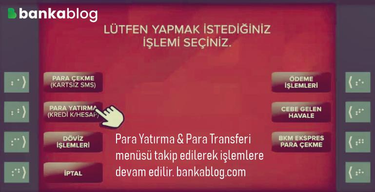ziraat bankası atm üzerinden para transferi