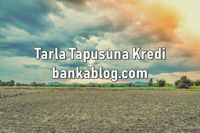 Tarla Tapusuna Kredi