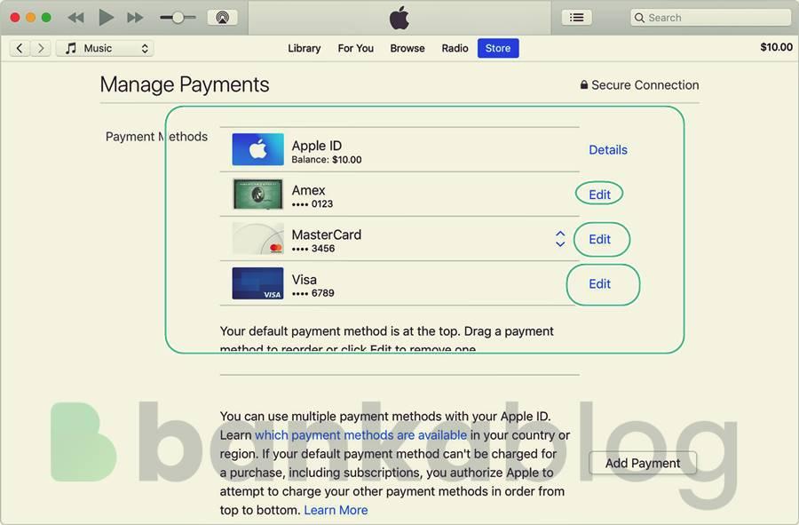 mac kredi kartı silme