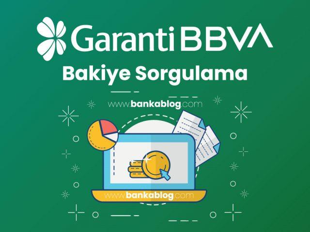 Garanti Bankası Hesap Bakiyesi Sorgulama (SMS, İnternet) • Banka Blog