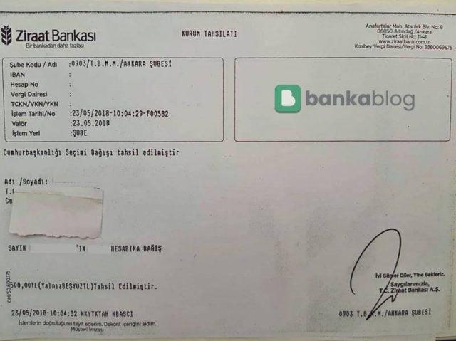 Ziraat Bankası dekont çıkarma