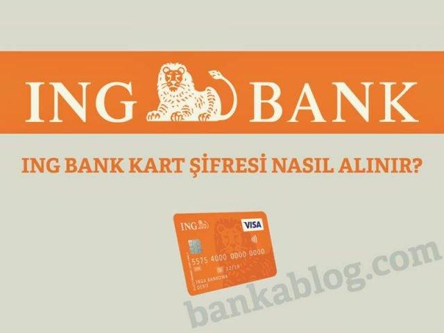 ing bank kart şifresi alma